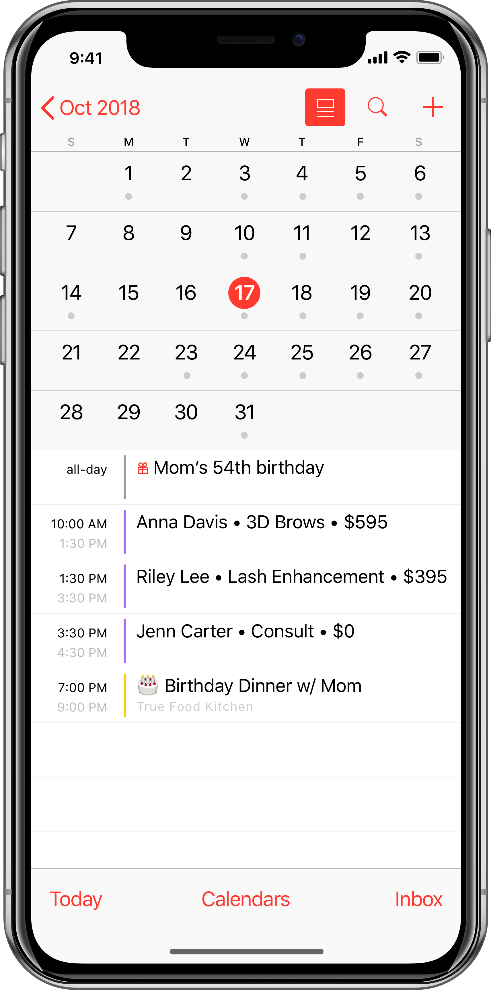 📱 The client scheduler for iPhone lovers • Hummingbook